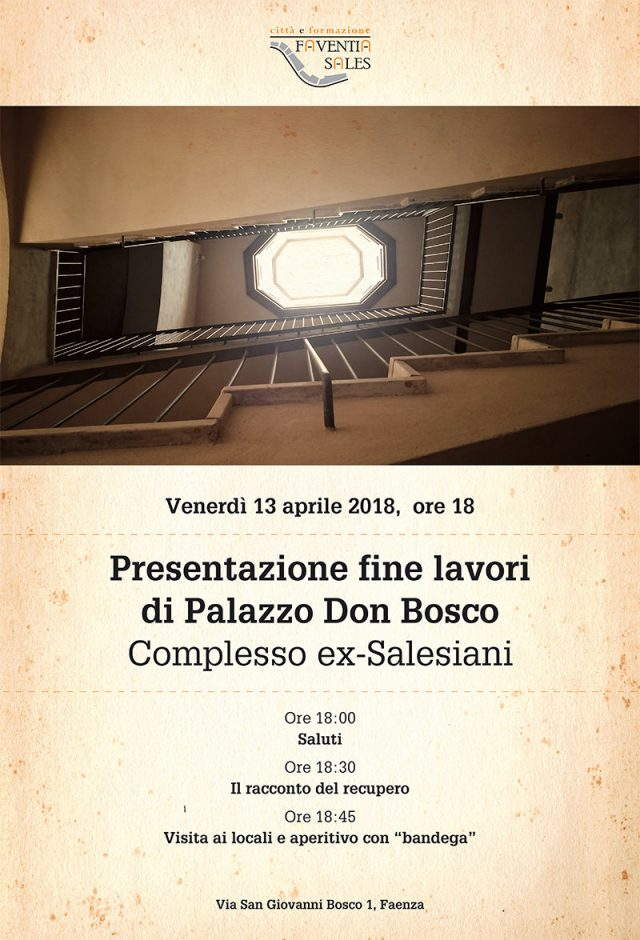 Presentazione fine lavori di Palazzo Don Bosco