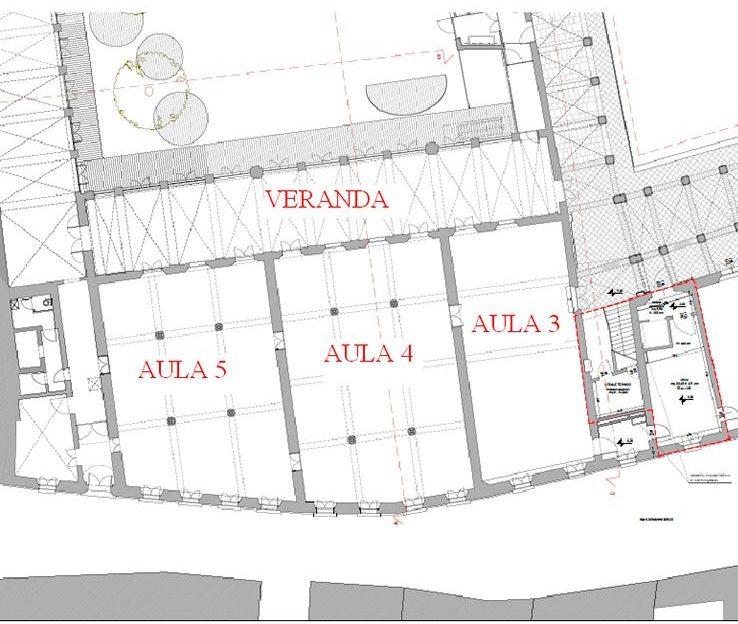 Planimetria aule noleggiabili Faventia Sales