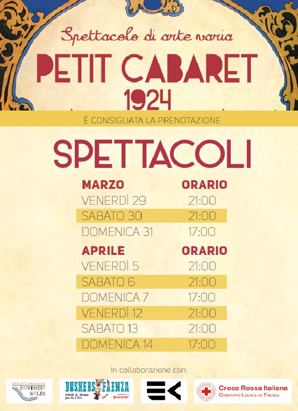 Spettacolo Petit Cabaret