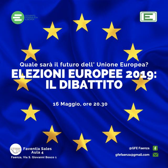 Gioventù Federalista Europea – dibattito sulle elezioni europee