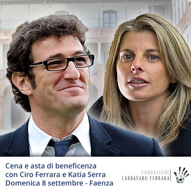 Cena e asta di beneficenza in compagnia di Ciro Ferrara e Katia Serra