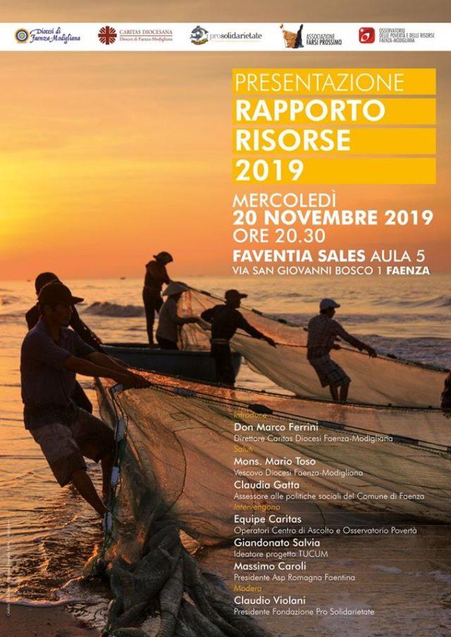 Rapporto Risorse 2019 – Caritas