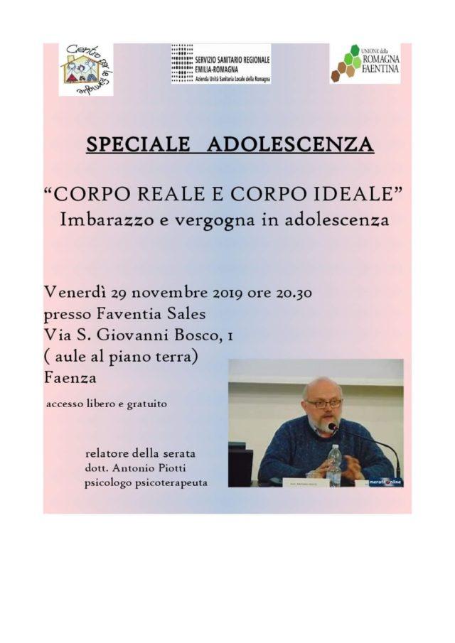 Speciale Adolescenza: relaziona dott. Piotti