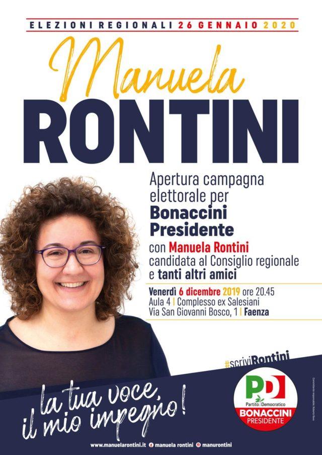6 dicembre: apertura campagna elettorale Rontini