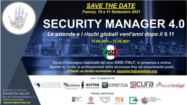 SECURITY MANAGER 4.0 – Le aziende e i rischi globali vent'anni dopo il 9.11